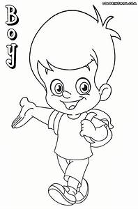 School Boy And Girl Pages Coloring Pages