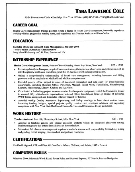 chronological resume sle experience resumes