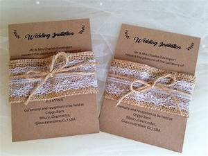 burlap and lace belly band wedding invitations gbp225 each With lace belly band for wedding invitations