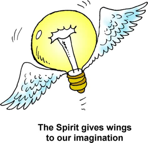 image light bulb with wings the spirit gives wings to