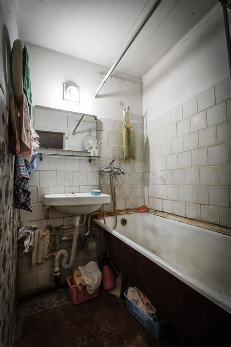 dirty  bathroom stock image image  room pattern