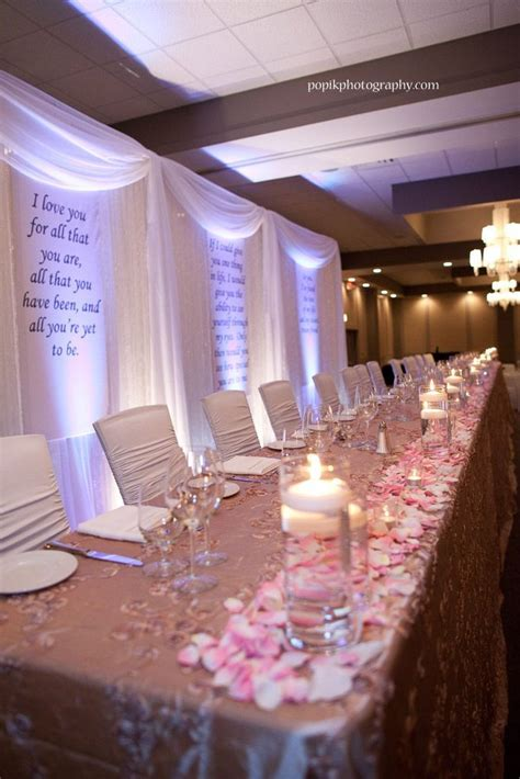 affordable backdrop behind head table options what did you use weddingbee 60th birthday