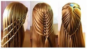 Coiffure Tresse Facile Cheveux Mi Long : 3 coiffures faciles tresse cascade coiffures pour ~ Melissatoandfro.com Idées de Décoration