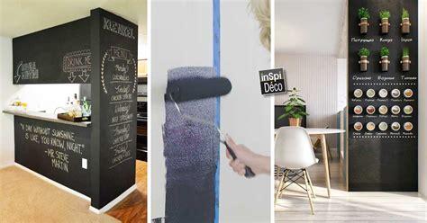 mur ardoise cuisine peindre un mur avec de la peinture ardoise 20 idées pour