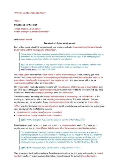 tips  writing formal termination letters