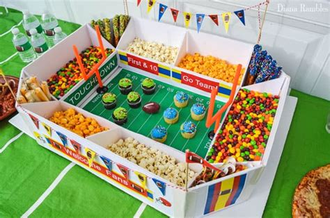 Football Snack Stadium For Game Day Football Party