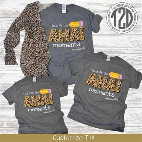 aha moments teacher  shirt teesurdoor