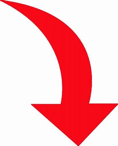 Arrow Curved Down Pixshark