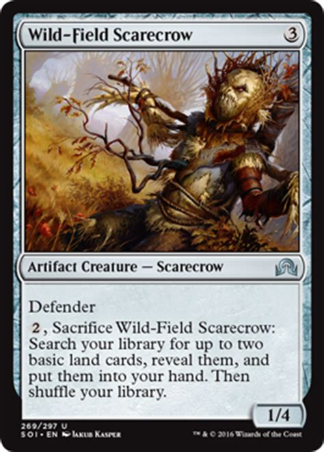 Mtg Lodestone Golem Deck by Field Scarecrow From Shadows Innistrad Spoiler