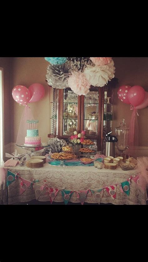 Teal And Pink Baby Shower Decorations by A Baby Shower Themed From The Sound Of S Quot My