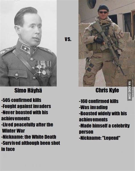 Chris Kyle Meme H 228 Yh 228 Withe Vs Chris Kyle American Sniper By