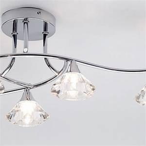 Edvin light bathroom semi flush ceiling chrome