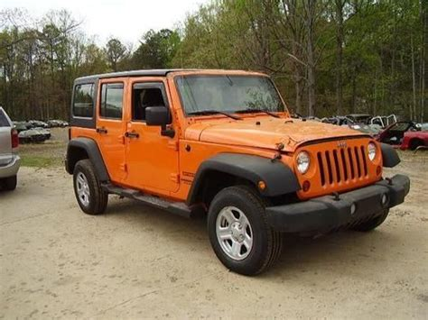 crashed jeep wrangler purchase used 2012 jeep wrangler unlmt parts only salvage