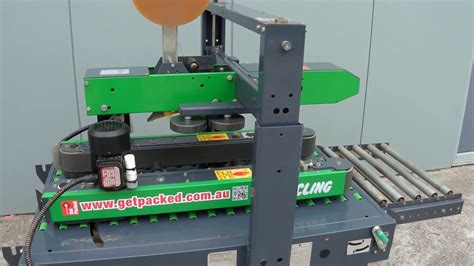 taping machine cling carton sealer xl carton sealing machine youtube