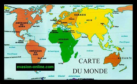 Carte Du Monde Avec Nom Des Pays Et Océans by Carte Du Monde Avec Nom Des Continents