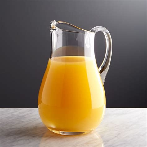 All Purpose Clear Glass Pitcher + Reviews   Crate and Barrel