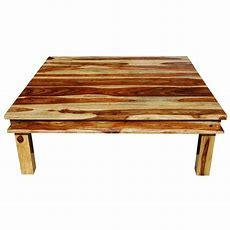 Large Square Wood Rustic Coffee Table
