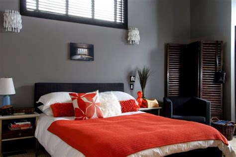 Grey Master Bedrooms With A Glimpse Of Color