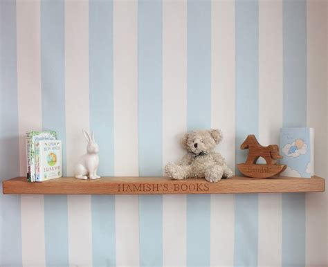 nursery floating shelves personalised nursery oak floating shelf by house of 1118