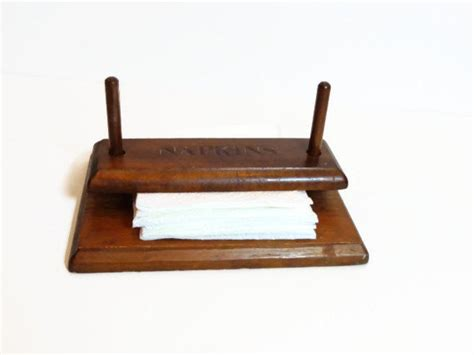 unique wooden napkin holder wood dowel weighted  poppawsplace  napkin holder