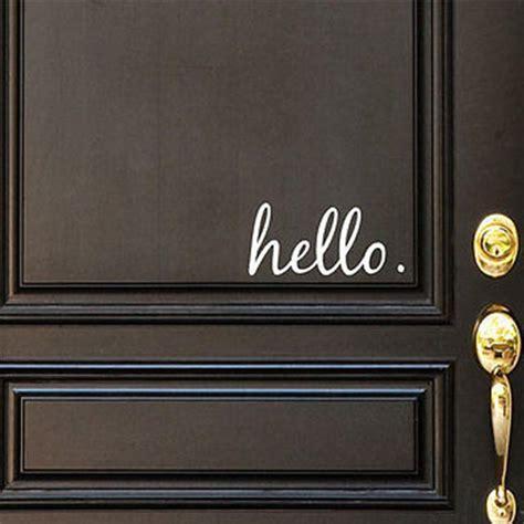 hello home decor hello vinyl door decal hello front door decals hello