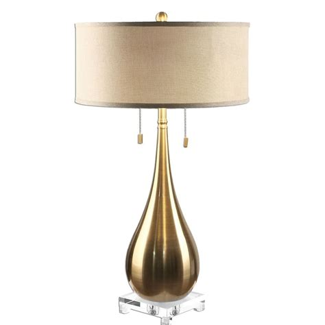 Uttermost Lighting by Uttermost Lagrima Brushed Brass L 27048 1