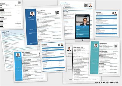 make a resume from linkedin through responsive cv