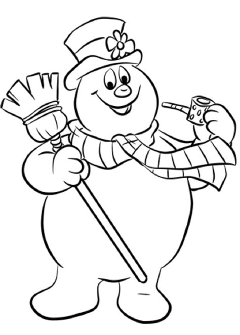 frosty snowman coloring pages coloring pages books