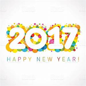 Happy New Year 2017 Numbers Colorul stock vector art ...