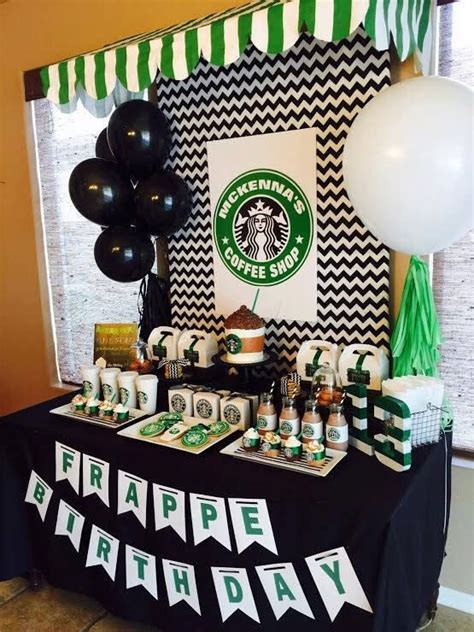 starbucks birthday coffee lover printable party pack