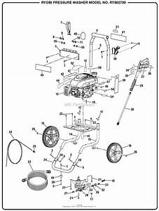 Homelite Ry802700 Pressure Washer Mfg  No  090079286 Parts Diagram For General Assembly  Part 1