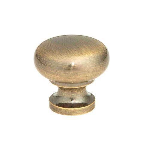 brass kitchen knobs giagni 1 1 4 in antique brass cabinet knob kb 6br 7