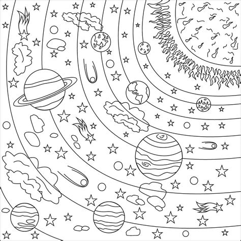 disegni da colorare spazio puoi stampare gratuitamente
