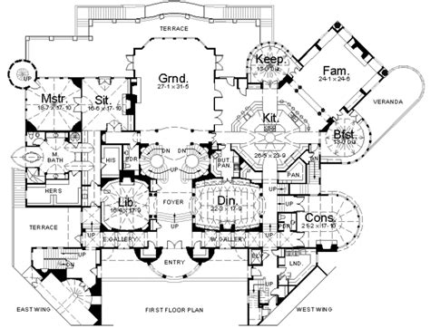 mansion house plans floorplans homes of the rich page 2