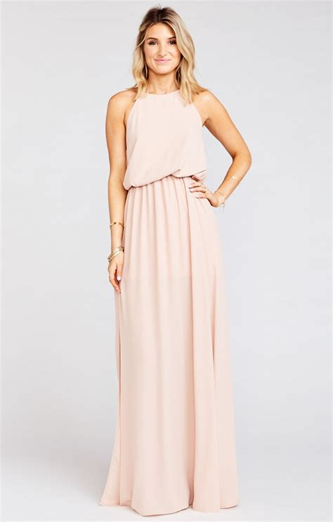 heather halter dress dusty blush show   mumu