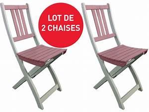 Chaise Pliante De Jardin : lot de 2 chaises pliantes de jardin trinidad coloris rose vente de 40 de remise conforama ~ Teatrodelosmanantiales.com Idées de Décoration