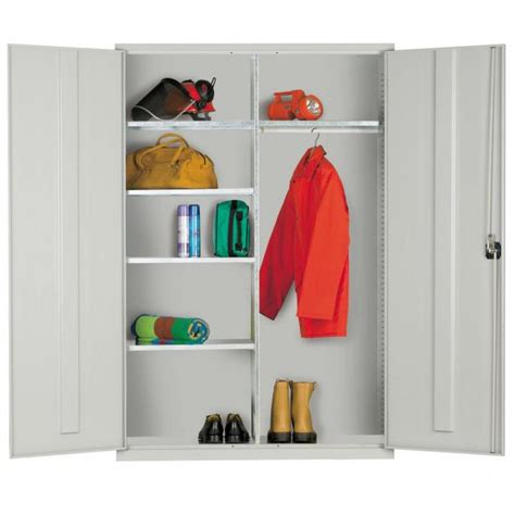 White Clothes Cupboard by Elite Wide Clothing Cupboard 1830h 1220w 457d Mm