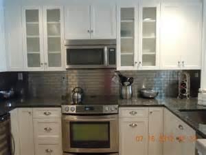 steel kitchen backsplash white with metal backsplash traditional kitchen new york by cls designs