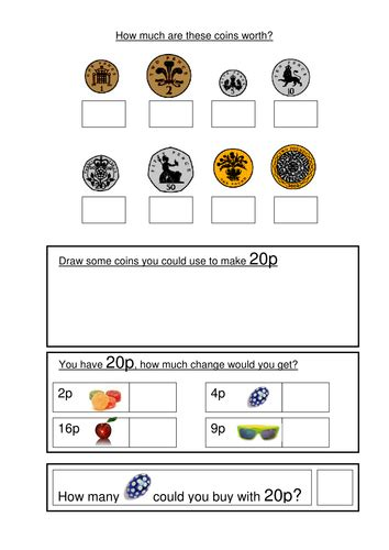 money worksheets ks1 coin recognition change and problem solving by gemvictoria teaching