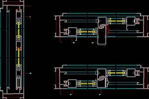 Sliding Door Details DWG Detail for AutoCAD • Designs CAD