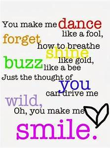 You Make Me Smile Quotes QuotesGram
