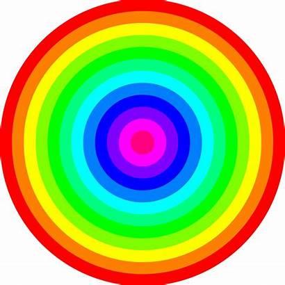 Circles Rainbow Circle Clipart Colored Transparent Colors
