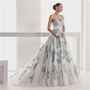 royal blue and white wedding dresses blue and white lace wedding dresses naf dresses