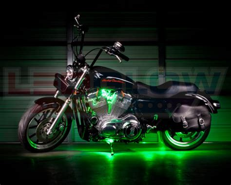 underglow lights for motorcycles 8pc ledglow green led pod motorcycle accent underglow