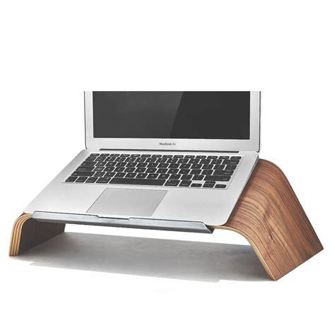 computer desk with laptop stand wood laptop stand walnut platform laptop holder