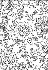 Coloring Adult Patterns Pages Embroidery Designs Print Pewter Flower Drawing Sheets Inspirational sketch template