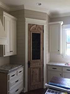 small pantry door design decoration With best brand of paint for kitchen cabinets with metal and glass candle holder