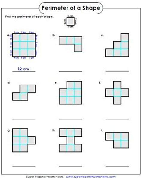 perimeter worksheet 3rd grade 3rd grade