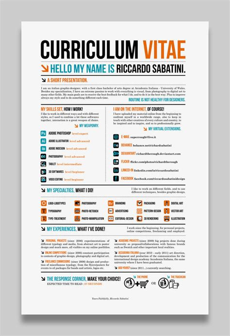 Best Creative Resumes resume designs best creative resume design infographics webgranth