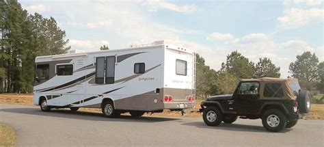 towing with a motorhome motorhome advantage